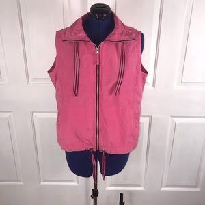 Columbia 1X pink grommet/ties vest